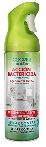 COOPERBACTER Aerosol Bactericida| Desinfectante para Superficies | Eficaz contra Bacterias, Hongos y Moho |, Aroma Menta |, Contenido: 200 ml