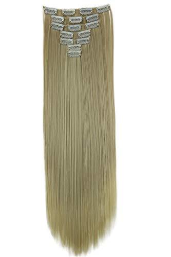 PRETTYSHOP XXL 60cm 8 Teile Set CLIP IN EXTENSIONS Haarverlängerung Haarteil Glatt Blond CES25