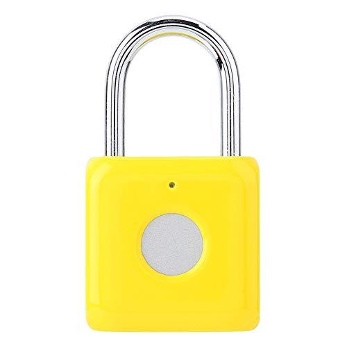 Candado de huella dactilar inteligente Candado de huella dactilar Cerradura electrónica para bolsa Maleta Gabinete puerta [Amarillo] Candados y cerrojos Puerta del gabinete [Amarillo]