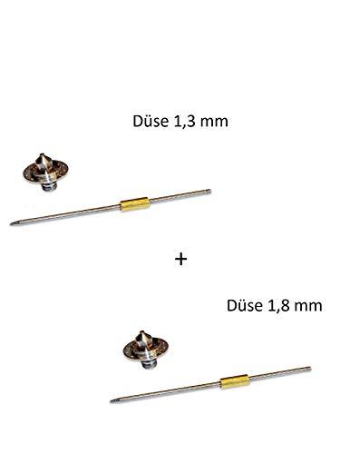 Devilbiss SLG-620 Reparaturset (Düsengröße: 1,3mm + 1,8mm) Allzwecklackierpistole Lackierpistole Spritzpistole