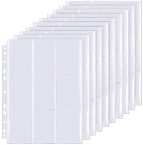 LISOPO 495 Sammelkarten 55 Seiten Pro 9-Pocket Pages-Standard-Größe, Sammelmappe, Neutral, Transparent Sammelkartenzubehör