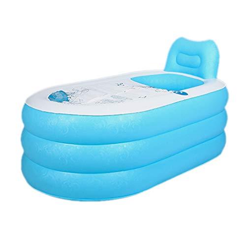 ZSP Piscina del Patio Trasero Bañera Inflable Engrosada bañera for Adultos bañera Plegable de la Bomba de Aire bañera Portable el Adulto Azul baño de Las Mujeres Embarazadas Piscina para niños