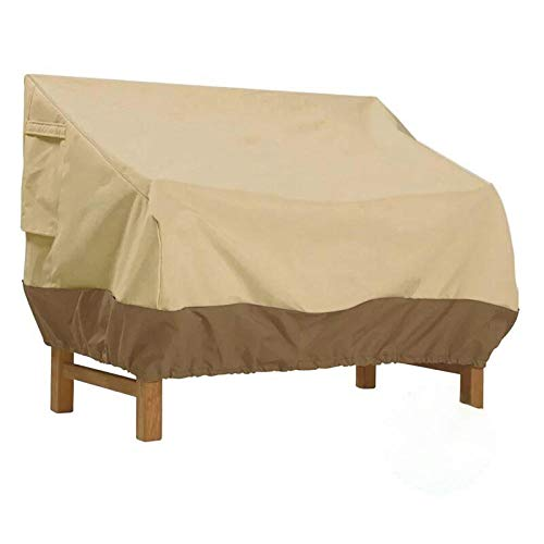 SlimpleStudio Muebles Plazas Funda para Sofa de Esquina,Parasol de Tela Oxford 600D para Exteriores, Cubierta Protectora para Muebles a Prueba de Lluvia y Polvo-Beige-1