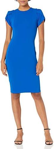 Calvin Klein Women s Tulip Sleeved Sheath Dress Capri 10 product image