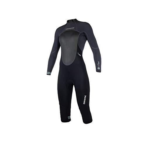 Mystic Watersports - Surf Kitesurf & Windsurfing Womens Brand 3/2 mm ritssluiting lange arm neopreen pak met korte pijpen zwart - Easy Stretch