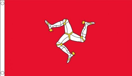 5ft x 3ft (150 x 90 cm) Isle Of Man Manx 100% Polyester Material Flag Banner Ideal For Pub Club School Festival Business Party Decoration by Flag Co