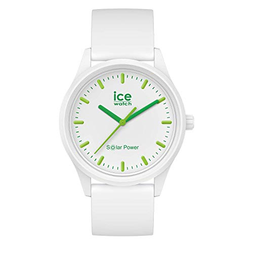 Ice-Watch - ICE solar power Nature - Montre blanche mixte avec bracelet en silicone - 017762 (Moyen)