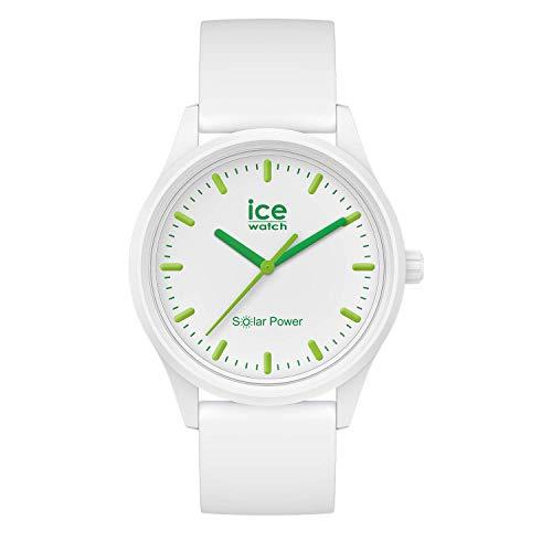 ICE-WATCH ICE Solar Power Nature - Reloj Blanco para Hombre con Correa de Silicona, 017762 (Medium)