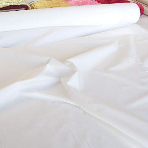 TOLKO Natur Roh-Nessel aus Oeko-Tex Baumwolle | 1,80 m breit | stabiles Segeltuch als Sonnenschutz Dekostoff Gardinenstoff | zum Nähen Dekorieren Bemalen Baumwollstoffe Meterware (Creme-weiß)