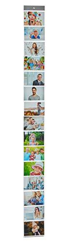 Cepewa GmbH Fotowand Fotogordijn voor 15 foto's 10 x 15 fotolijsten kaarthouder kaarthouder