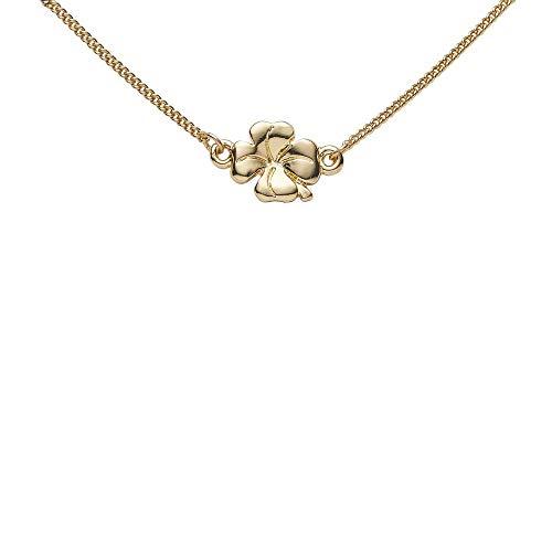 Draeger Paris – Pulsera de fantasía de metal dorado, diseño de trébol de la suerte – Sin níquel – 20 cm – Ideal para regalo personalizado y diseño
