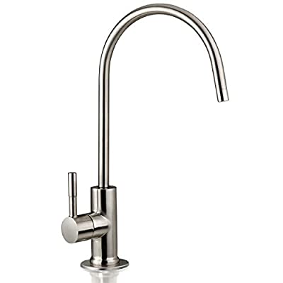 iSpring GA1-BN Heavy Duty Lead-Free Reverse Osmosis Faucet for RO Drinking Water Filtration Systems, Brushed Nickel