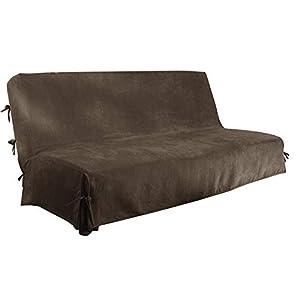 Funda para sofá sin Brazos de 3 Asientos Funda para sofá Clic Clac Funda para sofá Cama (Chocolate)