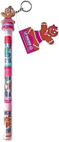 Lip Smacker Tube Holiday Limited Edition Cane Trio Lip Balm Gingerbread Girl Topper Collectible product image