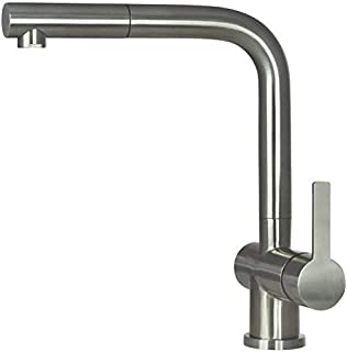 Grifo de cocina Mizzo Avora - Grifo de fregadero acero inoxidable - Grifo para fregadero eslabón giratorio de 360 grados - Grifo de cocina fregadero - 5 años de garantía