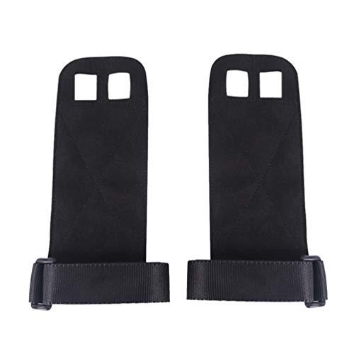 LIOOBO ein Paar Lederhandschuhe Fitness verschleißfeste Anti-Rutsch-Griff Gürtel Handgelenkstütze Palm Ausrüstung Band Pflege für Gewichtheber Übung