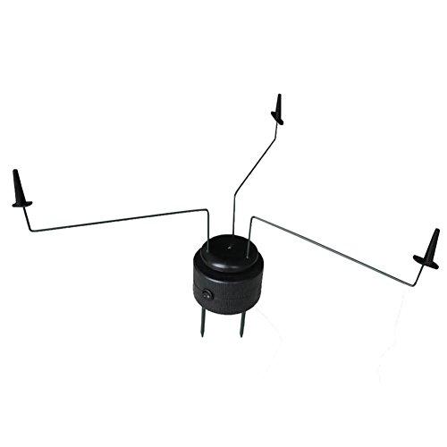 GUGULUZA Máquina magnética giratoria triple de paloma negra de caza señuelos de tiro táctico acecho