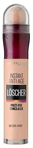 Maybelline New York Abdeckstift, Instant Anti-Age Effekt Concealer, Löscher mit Mikro-Lösch-Applikator, Nr. 95 Cool Ivory, 6,8 ml