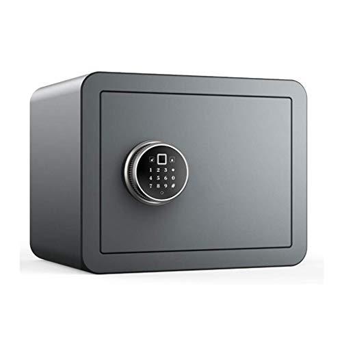 Hammer Seguridad de Acero Caja de Seguridad con Teclado Digital for oficinas y hoteles Inicio for Guardar Joyas Cash Passport Armas Incluye, Desbloquear con la Huella Digital (Color : Gray)