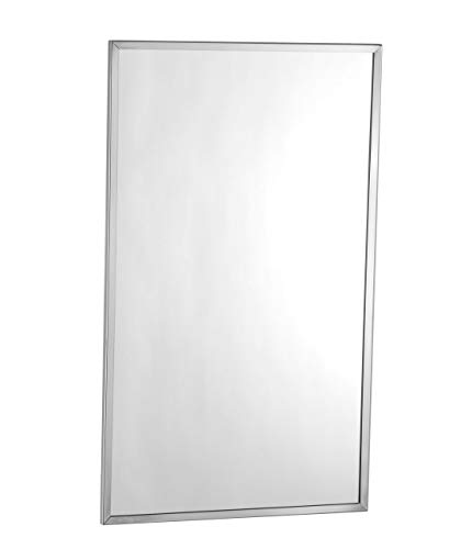 Choice Builder Solutions Bobrick B-165-1836 Contemporary Metal Wall Mirror | Glass Panel -