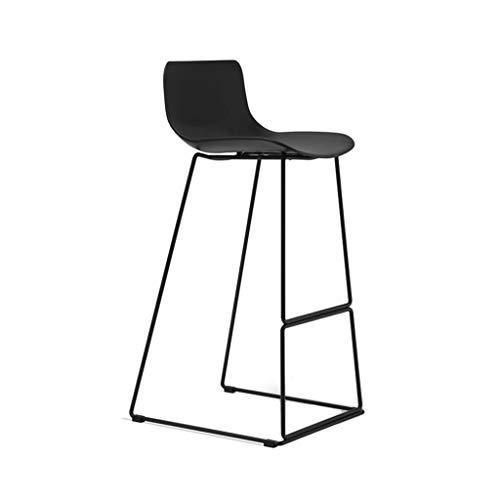 Barkruk Barkruk Hoge kruk met rugleuning Stoel Kinderstoel Keuken Cafe Chair Counter Hotel Chair Zwart (Size : 90cm)