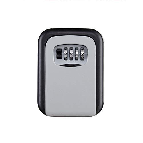 Caja Fuerte Para Llaves, contraseña de 4 dígitos, caja fuerte de seguridad oculta montada en la pared a prueba de agua al aire libre - caja de bloqueo de almacenamiento de llaves, para la casa (C)