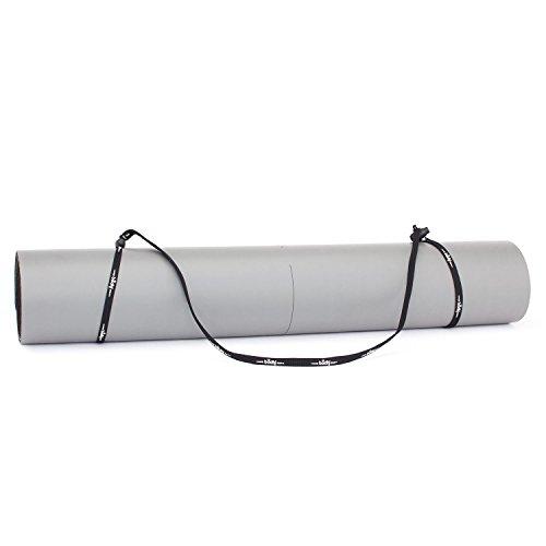 Universal-Yogamatten-Trageband (schwarz-weiß), einfache und günstige Transporthilfe für Yogamatten, verstellbar