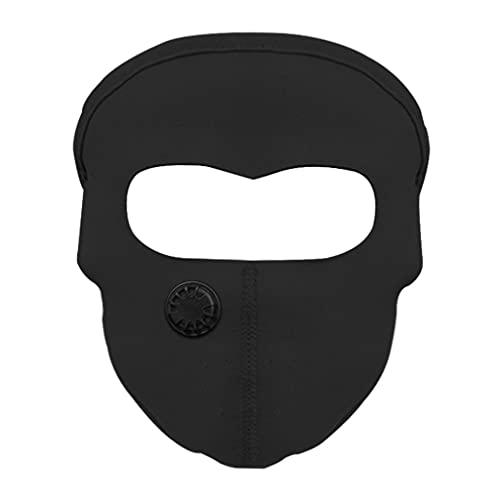 lahomia Motocicleta Al Aire Libre Ciclismo Máscara Facial Protección UV - Negro con filtro
