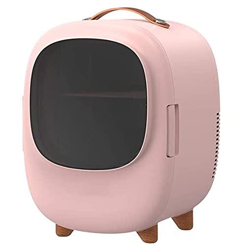 SETSCZY Mini Nevera/Nevera Portátil para Cosméticos De 8 L, Adecuada para Cualquier Almacenamiento De Cosméticos, Maquillaje Y Cuidado De La Piel, Dormitorio, Estructura De Doble Capa