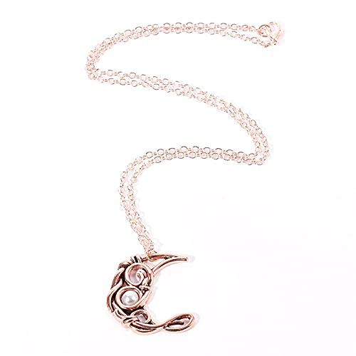 Collar Colgante Collar con Colgante de Cristal de Luna de circonita de Cobre Antiguo para Mujer Collar de Luna Gargantilla Cadena de clavícula joyería de Moda Regalos Amigos Collar Amistad Regalo