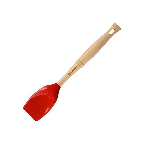 Le Creuset Revolution Silicone Spatula Spoon, Cerise (Cherry Red)