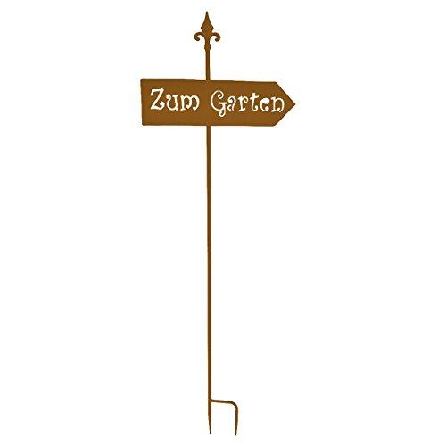 VARILANDO® Gartenschild mit 3 verschiedenen Schriftzügen Metalldekoration Gartendekoration Deko-Schild (Gartenschild