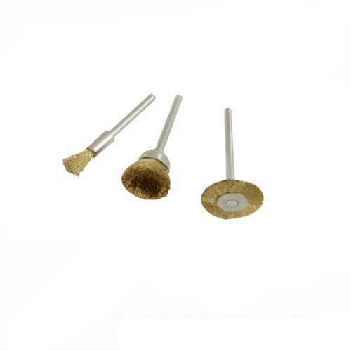 Silverline 763601 Jeu de 3 brosses en laiton 5, 16, 22 mm