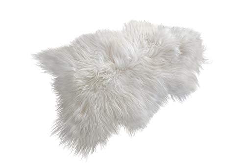 X-Small, Baby ESTRO Sheepskin Rug Fluffy White Brown Cream Rug for Bedroom Sheep Fur Genuine Animal Throw ESZ