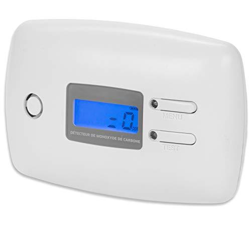 Kohlenmonoxid Warnmelder NF zertifizert CO-Melder mit Standfuß inkl. 9V Batterie - Gasmelder mit 5 Jahre Sensor