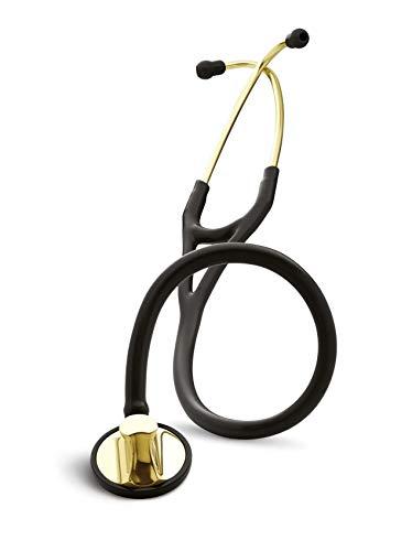 3M Littmann Master Cardiology stetoscopio con incisione laser - Nero Champagne 2175
