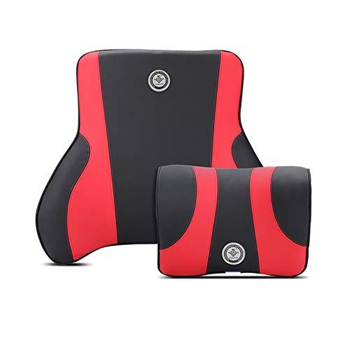 XuBa 2 stuks/set lendenkussen voor autostoel, bureaustoel Eén maat Zwart en rood.