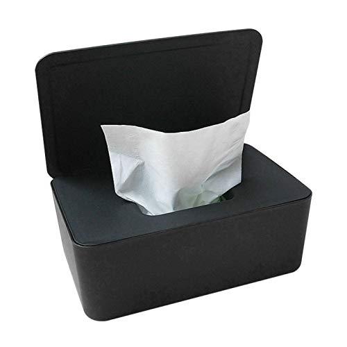 Dispensador de toallitas, funda de toallitas, soporte para toallitas, con placa pesada y pies de goma antideslizantes, mantiene las toallitas...