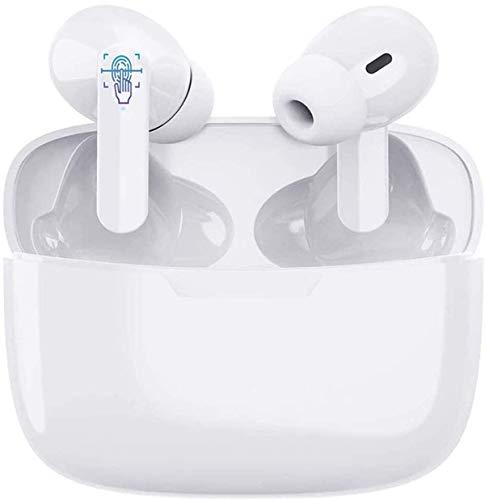 Auriculares Inalámbricos Bluetooth 5.1, Auriculares Bluetooth Deportivos IPX5 Impermeable, In-Ear Cascos Bluetooth Inalámbricos con Microfono y Caja de Carga para Android/Samsung/iPhone/Huawei/Xiaomi