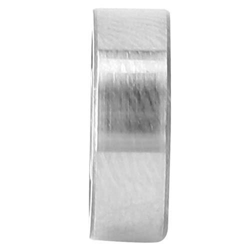 Rodamiento rígido de bolas Polea Rodamientos de riel 10pcs Universal Doble blindado Rodamientos de bolas de acero de metal de alta velocidad de ranura profunda Conjunto((604-zz))
