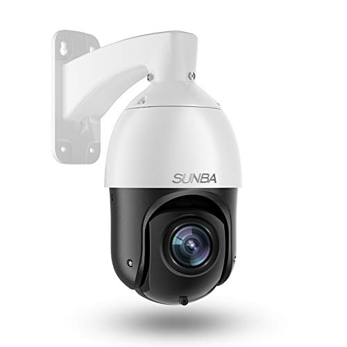SUNBA 1080p Starlight PoE+ IP PTZ Camera Outdoor, 20x Optical Zoom@H.265, 24x7 Automatic Patrol, up to 328ft Night Vision and ONVIF Compliant (405-D20X)