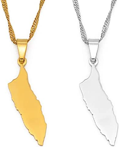 Aruba Map Pendant Necklaces for Women Girls Gold Color Jewelry Gifts