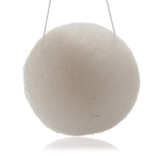 Konjac éponge naturelle konjac éponge visage avec Activé charbon de bambou Gommant Doux konjac éponge pour tous les types de peau Couleur Blanc