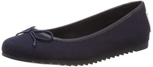 Hilfiger Denim Damen Rubber Patch Ballerina Geschlossene Ballerinas, Blau (Midnight 403), 36 EU