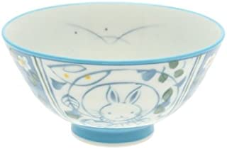 2 Pc Japanese Blue Moon Bunnies Rice Bowl Set Includes 2 Bowls #130-627