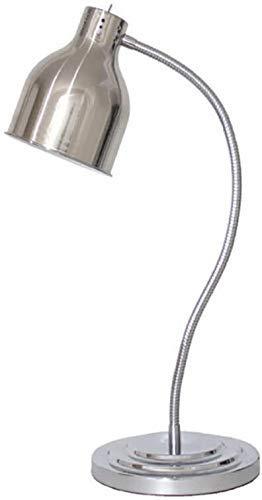WJXBoos Lámpara de Calor Ajustable Calentador de Calentamiento de Alimentos Lámpara de Acero Inoxidable Resturant Kitchen Buffet Warmer (Color: Plata)