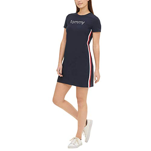 Tommy Hilfiger Womens T-Shirt Dress (Sky Captain, Medium)