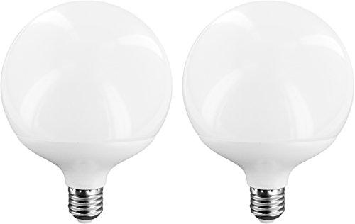 Bombilla sin luz azul LED globo 270° E27 12 W Cri97Ra – Lote de 2