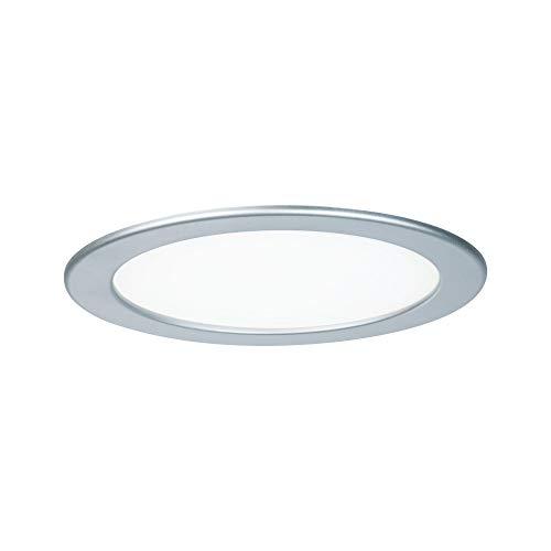 Paulmann 92072 Einbaupanel rund Deckenleuchte 18W Licht 4000K Neutralweiß LED Panel Chrom Matt IP44 spritzwassergeschützt inklusive Leuchtmittel Luz empotrable, 18 W, cromo mate