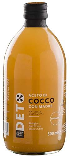 Aceto di Cocco Biologico con Madre Non Filtrato Deto Andrea Milano - 500 ml